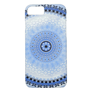 Blue Cloud Mandala iPhone 7 Case