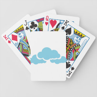 Blue Clouds Bicycle Playing Cards