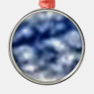 Blue Clouds Metal Ornament