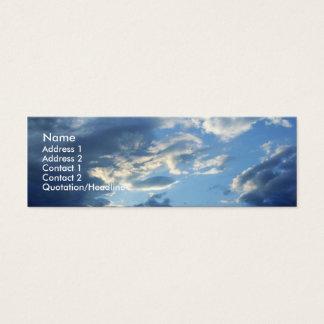 Blue Clouds Mini Business Card