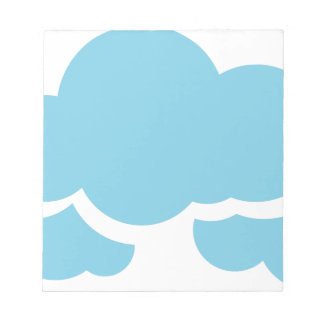 Blue Clouds Notepad