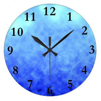 Blue Clouds Wall Clock