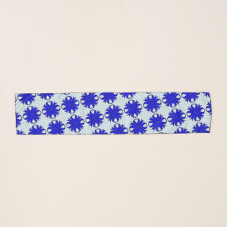 Blue Clover Ribbon by Kenneth Yoncich Scarf
