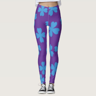 Blue Clovers Leggings