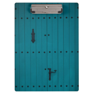 Blue Coastal Door from Costa Brava Spain Clipboard