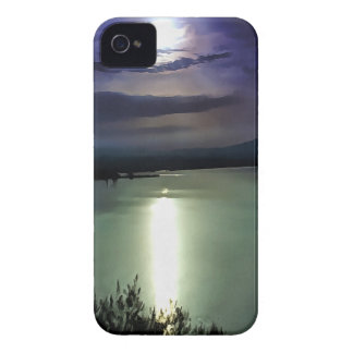 Blue Coastal Sunset iPhone 4 Cases