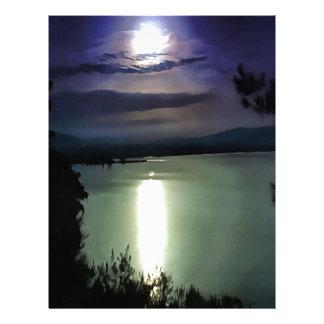 Blue Coastal Sunset Letterhead