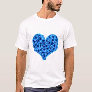 Blue Cockades Heart Singlet T-Shirt