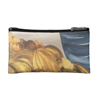Blue Coffee Mug & Beans Cosmetic Bag