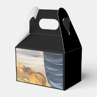 Blue Coffee Mug & Beans Favor Box