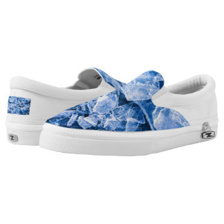 Blue Cold Ice Slip-On Sneakers