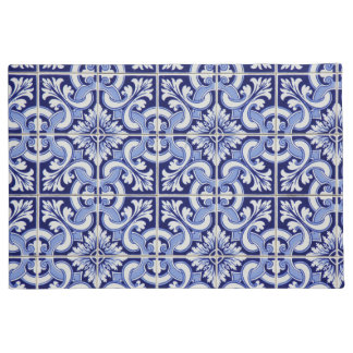 Blue color abstract pattern doormat