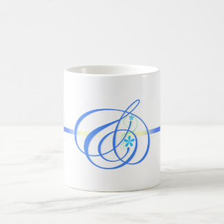 Blue color And-mark Simple Mugs
