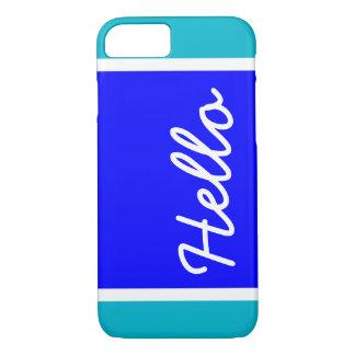 Blue Color Block Pattern | Hello iPhone 7 Case