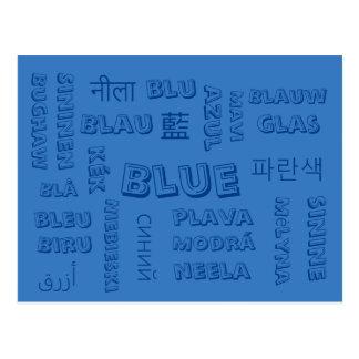 Blue - Color Languages on Postcards