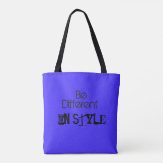 Blue Color Tote Bag with Elements and style