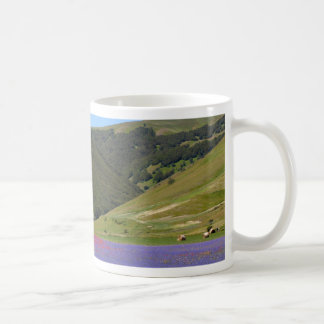 Blue colored fields with cornflowers coffee mug