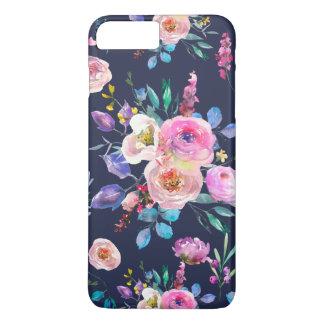 Blue & Colorful Flowers Bouquet Pattern iPhone 8 Plus/7 Plus Case