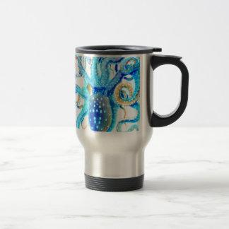 Blue colorful ocopi travel mug