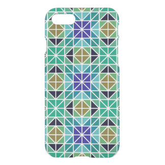 Blue colorful tiled mosaic iPhone 7 case