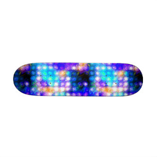 Blue Colorful Whimsical Abstract Custom Skate Board