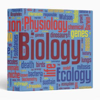 Blue & Colourful Biology Wordle Vinyl Binders