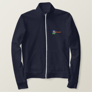 Blue Columbine Embroidered Jacket