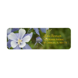 Blue Columbine Flowers Return Address