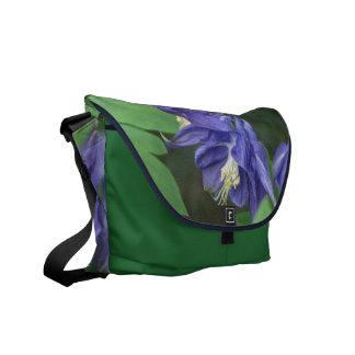 Blue Columbine Messenger Bag