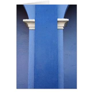 Blue Column Card