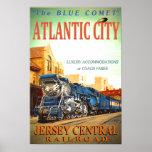 Blue Comet Passenger Train Poster