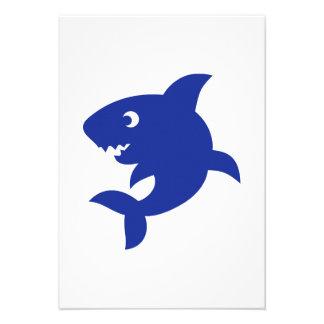 Blue comic shark custom announcements