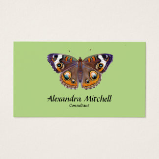 Blue Common Buckeye Butterfly Artist Painting Business Card