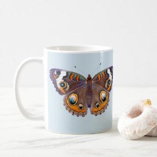 Blue Common Buckeye Butterfly Realistic Painting Coffee Mug