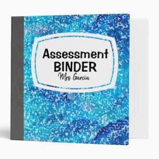 Blue Composition Style Binder
