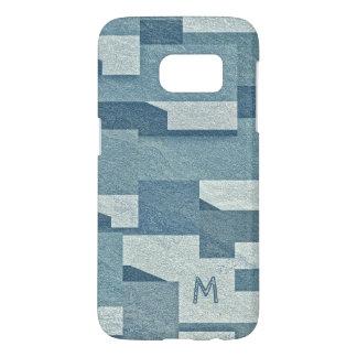 """""""Blue Concrete"""" custom monogram phone cases"""