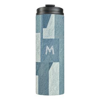 """""""Blue Concrete"""" custom monogram tumbler"""