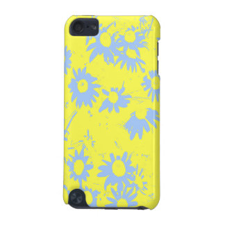 Blue Cone Flowers with Yellow Background iPod Touch 5G Case