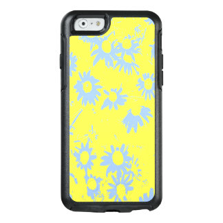 Blue Cone Flowers with Yellow Background OtterBox iPhone 6/6s Case