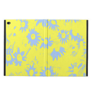 Blue Cone Flowers with Yellow Background Powis iPad Air 2 Case