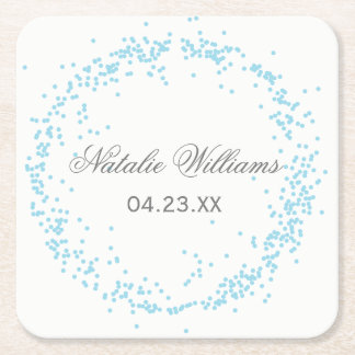 Blue Confetti - Custom Coaster