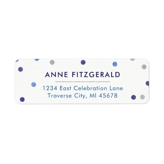 Blue Confetti Return Address Labels