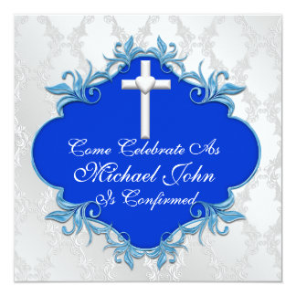BLUE CONFIRMATION Invitations Elegant Design