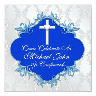 BLUE CONFIRMATION Invitations Elegant Design