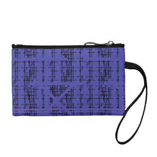 'Blue Construction' Patterned Coin Purse