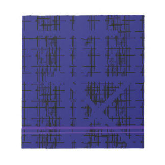'Blue Construction' Patterned Notepads