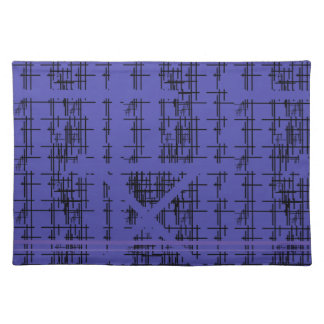 'Blue Construction' Patterned Placemat