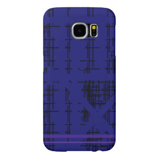 'Blue Construction' Patterned Samsung Galaxy S6 Cases