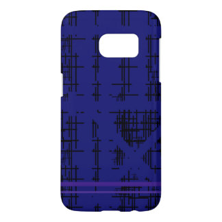'Blue Construction' Patterned Samsung Galaxy S7 Case