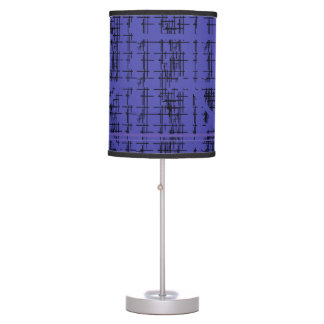 'Blue Construction' Patterned Table Lamp